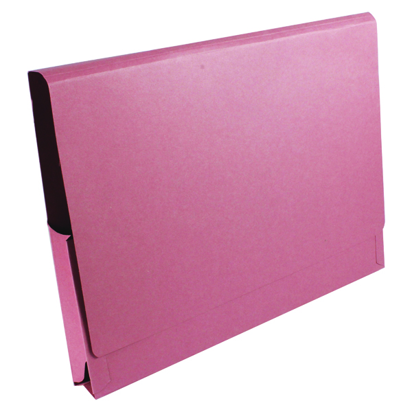 Legal Filing Exacompta Guildhall Brief Size Pocket Wallet 14x10in Pink (50 Pack) PW3-PNK