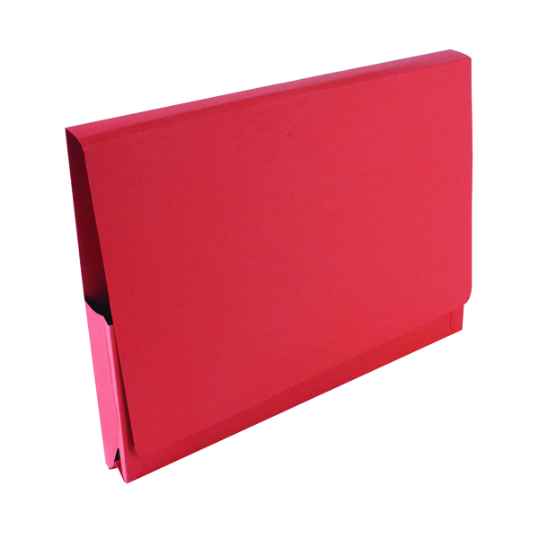 Legal Filing Exacompta Guildhall Brief Size Pocket Wallet 14x10in Red (50 Pack) PW3-RED