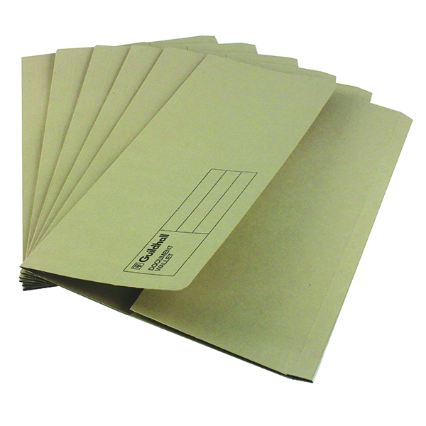 Other Sizes Exacompta Guildhall Document Wallet Foolscap Buff (50 Pack) GDW1-BUF