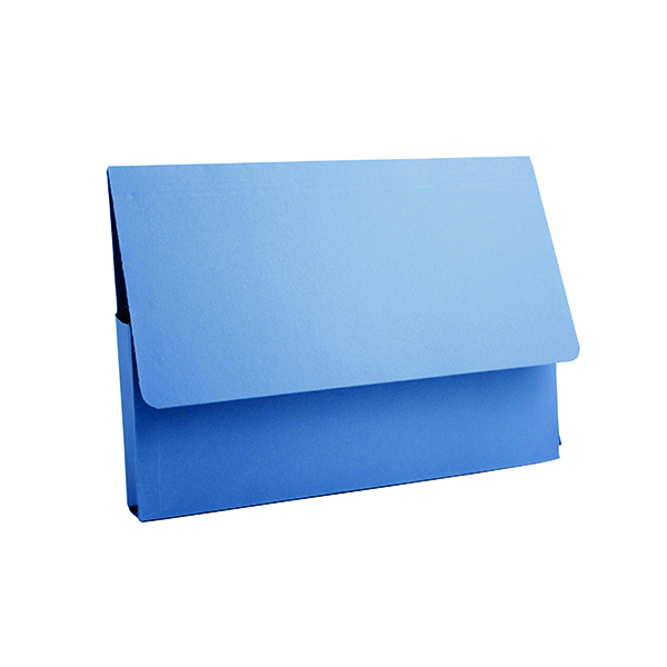 A4 Exacompta Guildhall Document Wallet 285gsm A4 Blue (50 Pack) PDW4-BLUZ