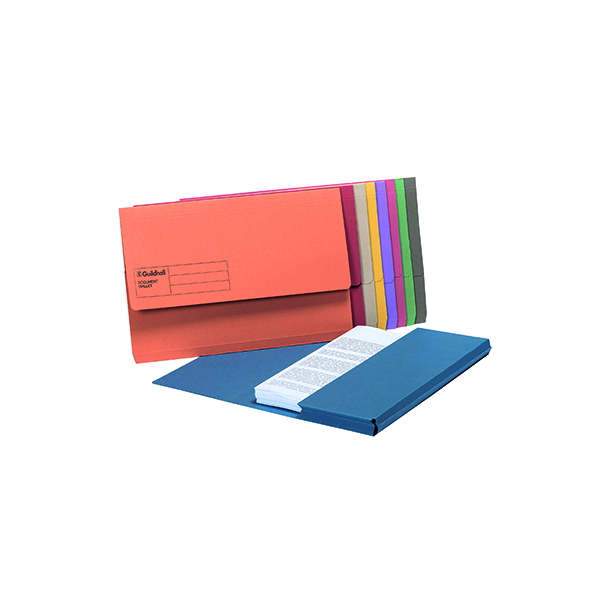 Exacompta Guildhall Document Wallet Foolscap Assorted (50 Pack) GDW1-AST