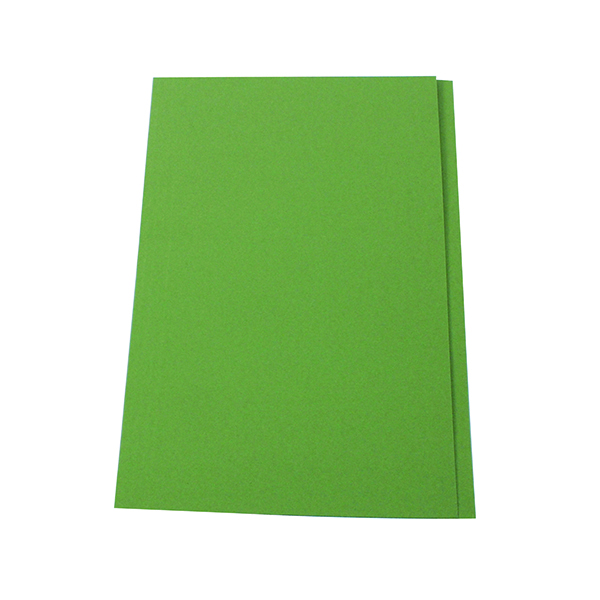 Exacompta Guildhall Square Cut Folder 315gsm Foolscap Green (100 Pack) FS315-GRNZ