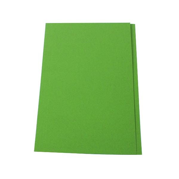 Exacompta Guildhall Square Cut Folder 315gsm Foolscap Green (100 Pack) FS315-GRNZ