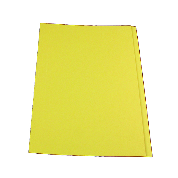 Exacompta Guildhall Square Cut Folder 315gsm Foolscap Yellow (100 Pack) FS315-YLWZ