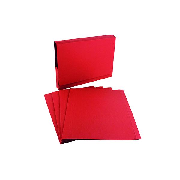 Exacompta Guildhall Square Cut Folder 315gsm Foolscap Red (100 Pack) FS315-REDZ