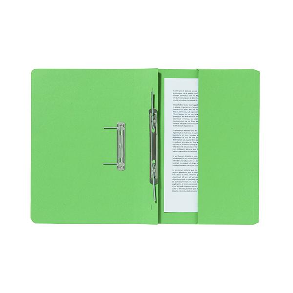 Exacompta Guildhall Pocket Spiral File 285gsm Green (25 Pack) 347-GRNZ