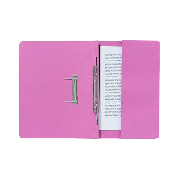 Exacompta Guildhall Pocket Spiral File 285gsm Pink (25 Pack) 347-PNKZ