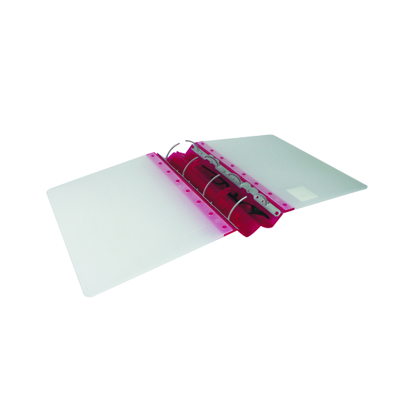 A4 Size Guildhall GLX Ergogrip Ring Binder Frosted A4 Raspberry (2 Pack) 4545