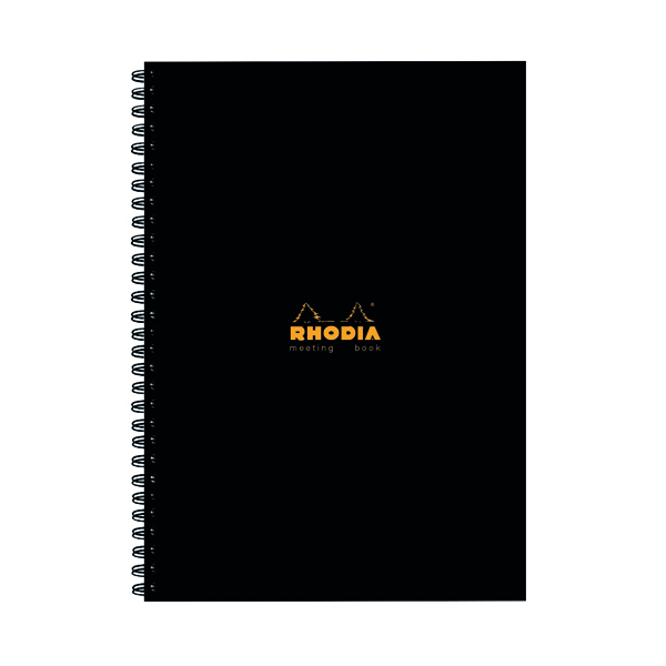 Rhodia Meeting Book A4 Wirebound Hardback Black 160 Pages (3 Pack) 119238C