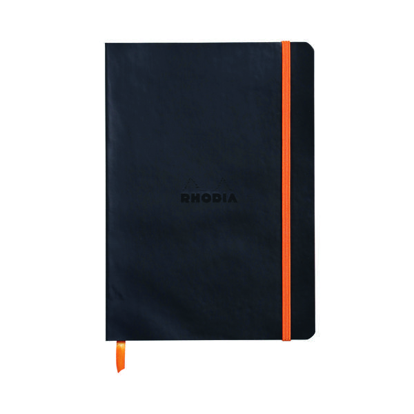 Ruled Rhodiarama Soft Cover Notebook 160 Pages A5 Black 117402C