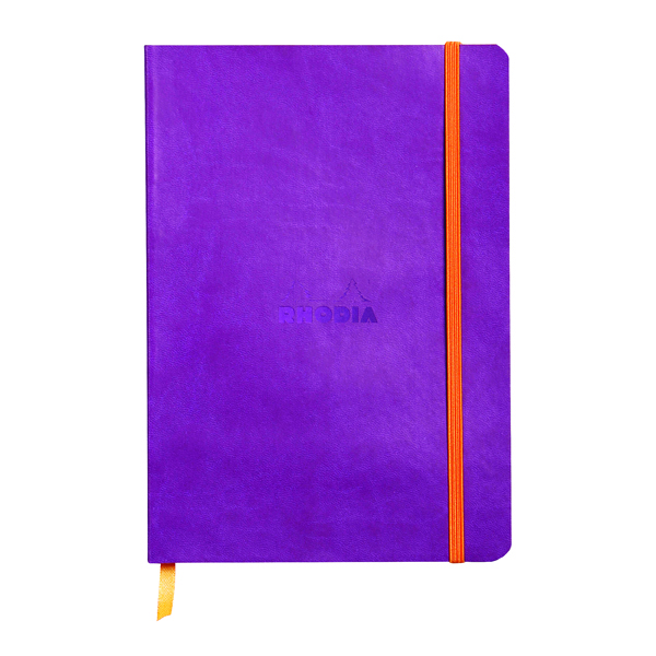 Ruled Rhodiarama Soft Cover Notebook 160 Pages A5 Purple 117410C
