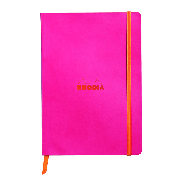 Ruled Rhodiarama Soft Cover Notebook 160 Pages A5 Raspberry 117412C