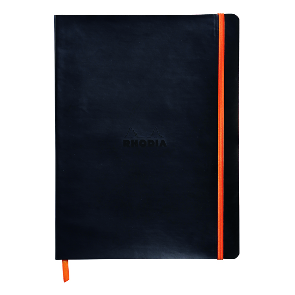 Ruled Rhodiarama Soft Cover Notebook 160 Pages B5 Black 117502C