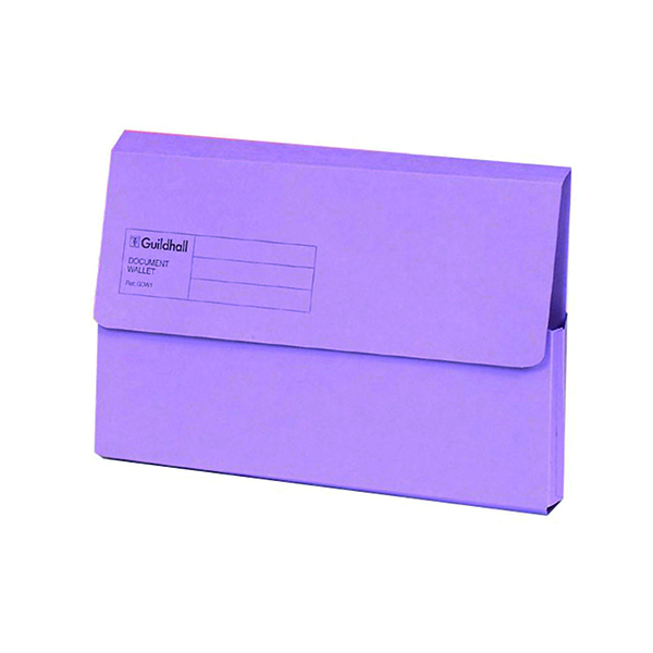 Other Sizes Exacompta Guildhall Document Wallet Foolscap Violet (50 Pack) GDW1-VLT
