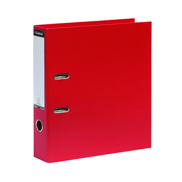 A4 Size Exacompta Guildhall 70mm Lever Arch File A4 Red (10 Pack) 222/2002Z