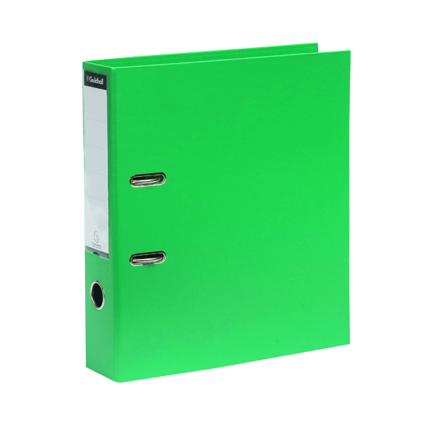A4 Size Exacompta Guildhall 70mm Lever Arch File A4 Green (10 Pack) 222/2003Z