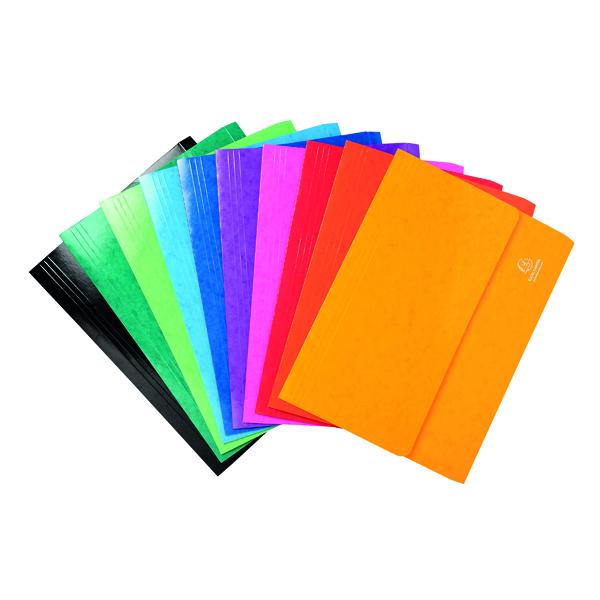 Exacompta Iderama Pocket Wallet Foolscap Assorted (25 Pack) 6500Z