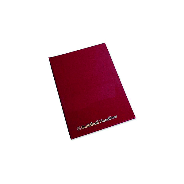 Accounts Books Exacompta Guildhall 298x203mm Headliner Book 80 Pages 38/10 1149