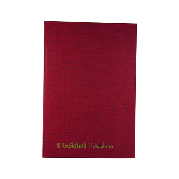 Exacompta Guildhall 298x203mm Headliner Book 80 Pages 38/14 1151