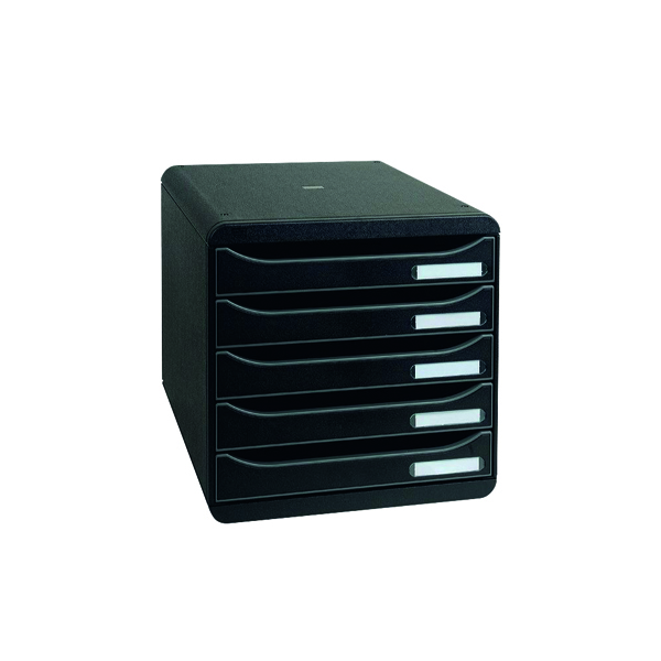 Unspecified Exacompta Big Box Plus 5 Drawer Black 309714D