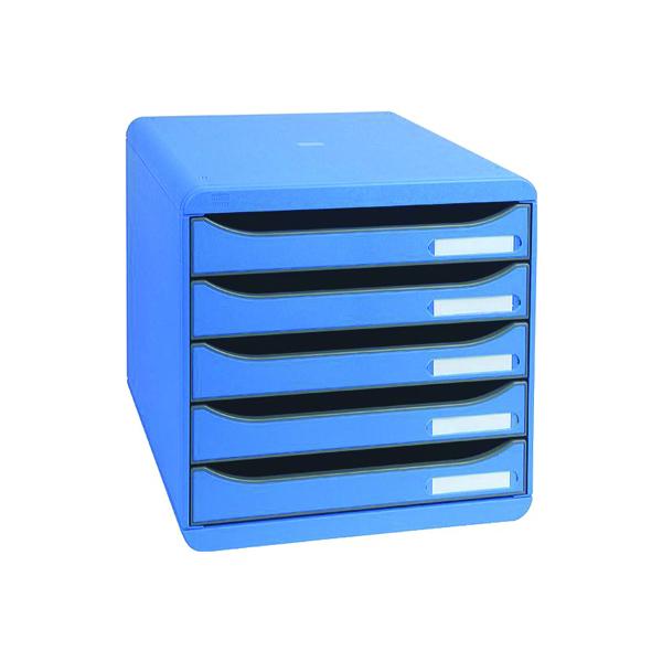 Exacompta Big Box Plus 5 Drawer Set Blue 309779D