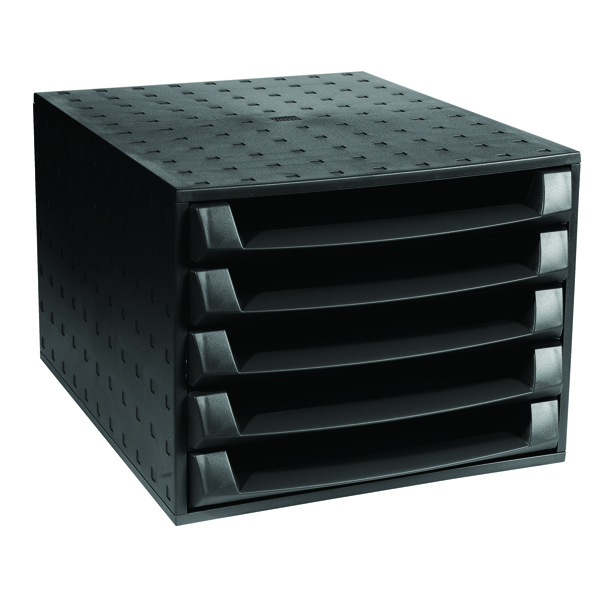 Organiser Forever 5 Drawer Set Black 221014D