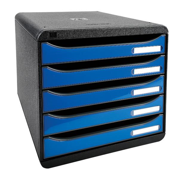 5 Drawer Exacompta Iderama Big Box Plus 5 Drawer Set Blue 3097279D