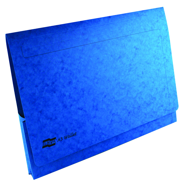 Exacompta Europa Pocket Wallet A3 Blue (25 Pack) 4785Z