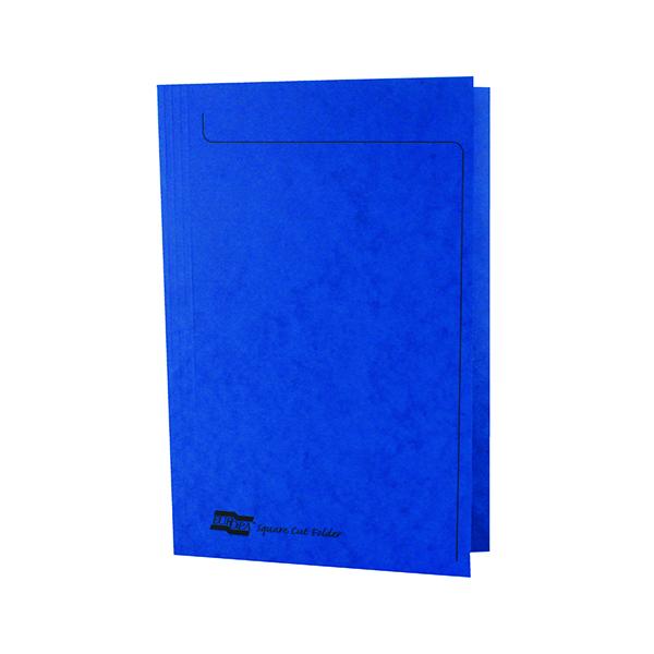 Europa Square Cut Folder 300 micron Foolscap Blue (50 Pack) 4825