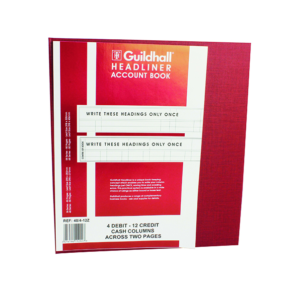 Accounts Books Exacompta Guildhall 298x273mm Headliner Book 80 Pages 48/4-12 1292