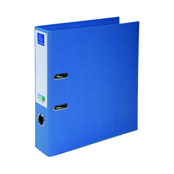 Unspecified Exacompta Clean Safe Lever Arch File 70mm Blue 53222E