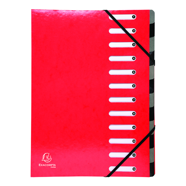 Exacompta Iderama 12-Part File A4 Red 53925E