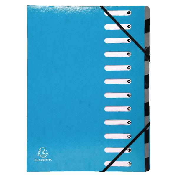 Exacompta Iderama 12-Part File A4 Light Blue 53927E