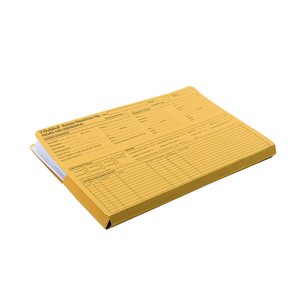Exacompta Guildhall Pre-Printed Human Resources File 315gsm Yellow (50 Pack) 211/1300Z