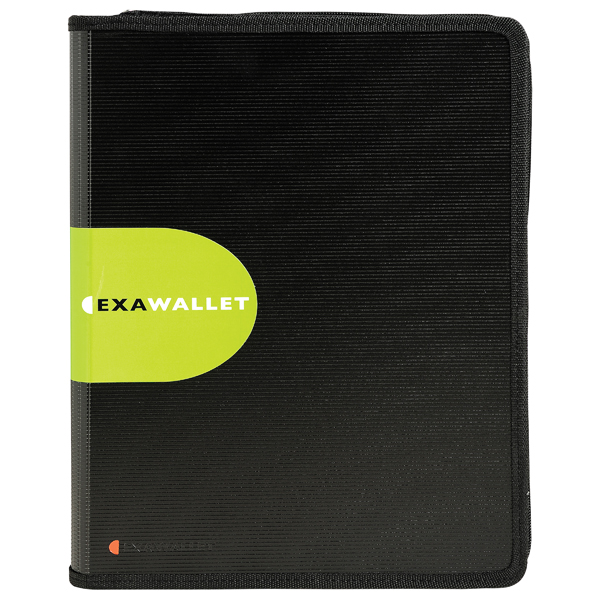 Exacompta Exactive ExaWallet Conference Folder with Calculator Black 55534E