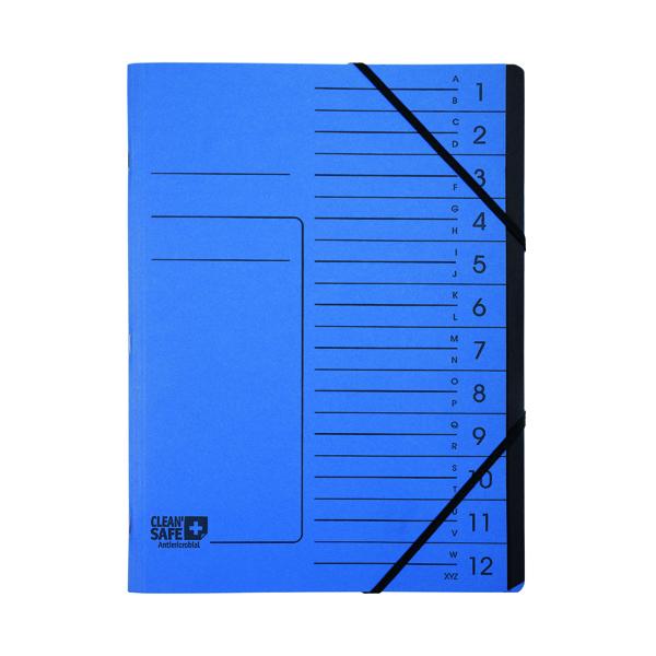 A4 Exacompta Clean Safe Multipart File 12 Parts 57122E