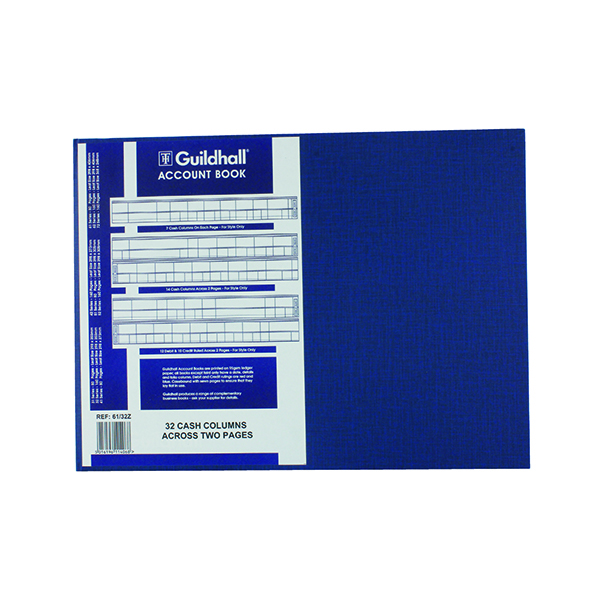 Accounts Books Exacompta Guildhall 32 Cash Columns Account Book 80 Pages 61/32 1406