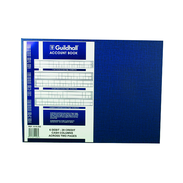 Accounts Books Exacompta Guildhall Account Book 80 Pages 61/6-20 1408