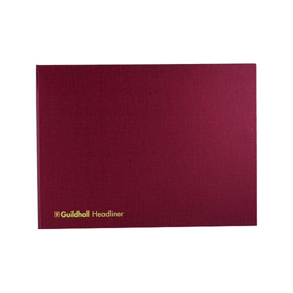 Exacompta Guildhall 298x405mm Headliner Book 80 Pages 68/6-20 1450