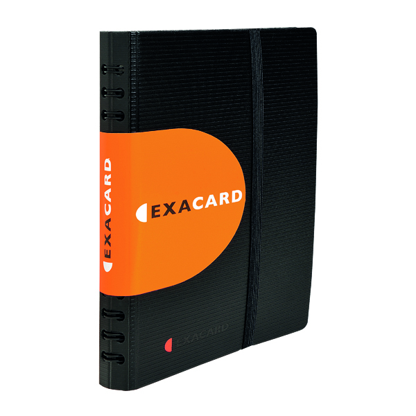 Exacompta Exactive Exacard Business Card Holder Capacity 120 Black 75034E