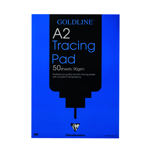 Tracing Clairefontaine Goldline Professional Tracing Pad 90gsm A2 50 Sheets GPT1A2