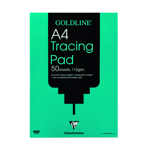 Tracing Clairefontaine Goldline Heavyweight Tracing Pad 112gsm A4 50 Sheets GPT3A4
