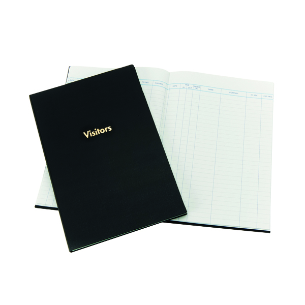 Exacompta Guildhall Company Visitors Book 160 Pages Blue T253 1809