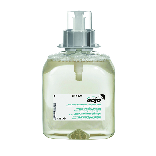 Gojo Mild Fragrance Free Hand Wash FMX 1250ml Refill (3 Pack) 5167-03-EEU