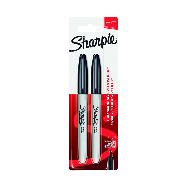 Sharpie Fine Blister Twin Pack Black (12 Pack) S815030