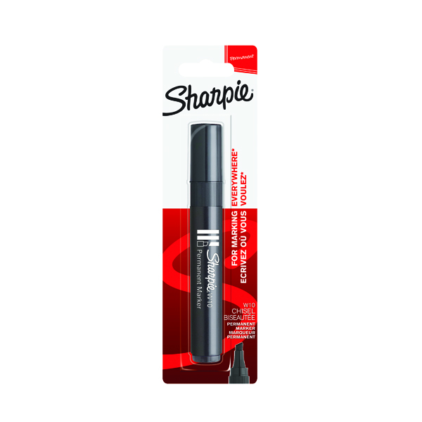 Sharpie Black W10 Permanent Marker Blister (12 Pack) S0192667