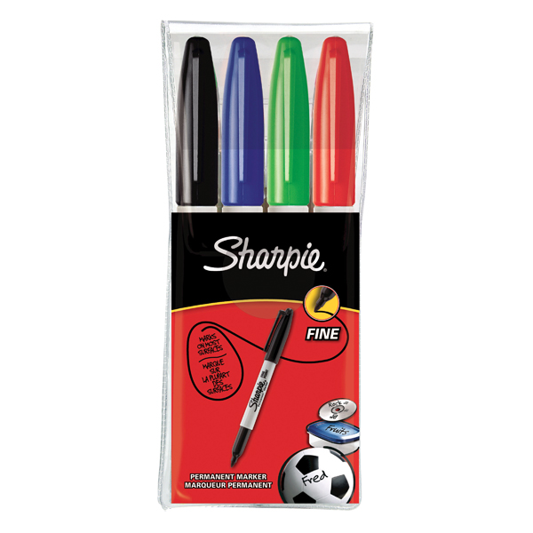 Other Tip Sharpie Permanent Marker Fine Assorted (4 Pack) S0810970