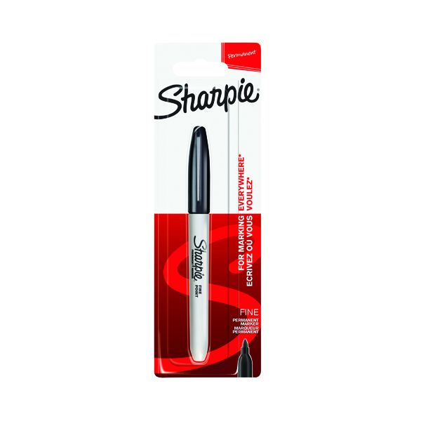 Other Tip Sharpie Black Permanent Marker Fine (12 Pack) 1985857