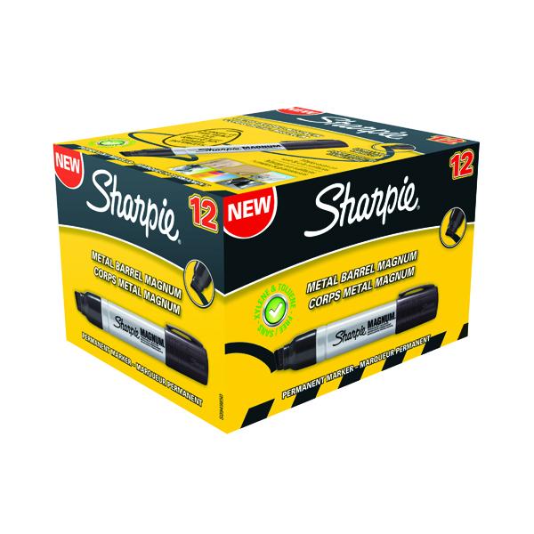 Sharpie Magnum Permanent Marker Extra Large Chisel Tip Black (12 Pack) S0949850