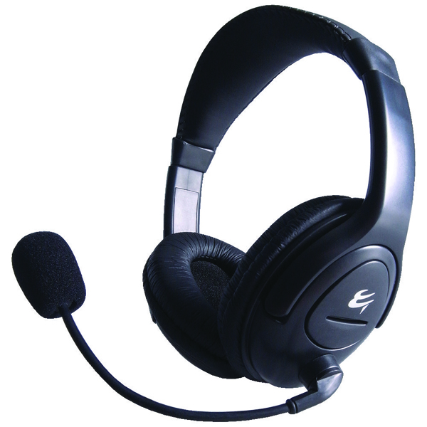 Computer Gear HP512 Multimedia Stereo Headset With Boom Microphone 24-1512